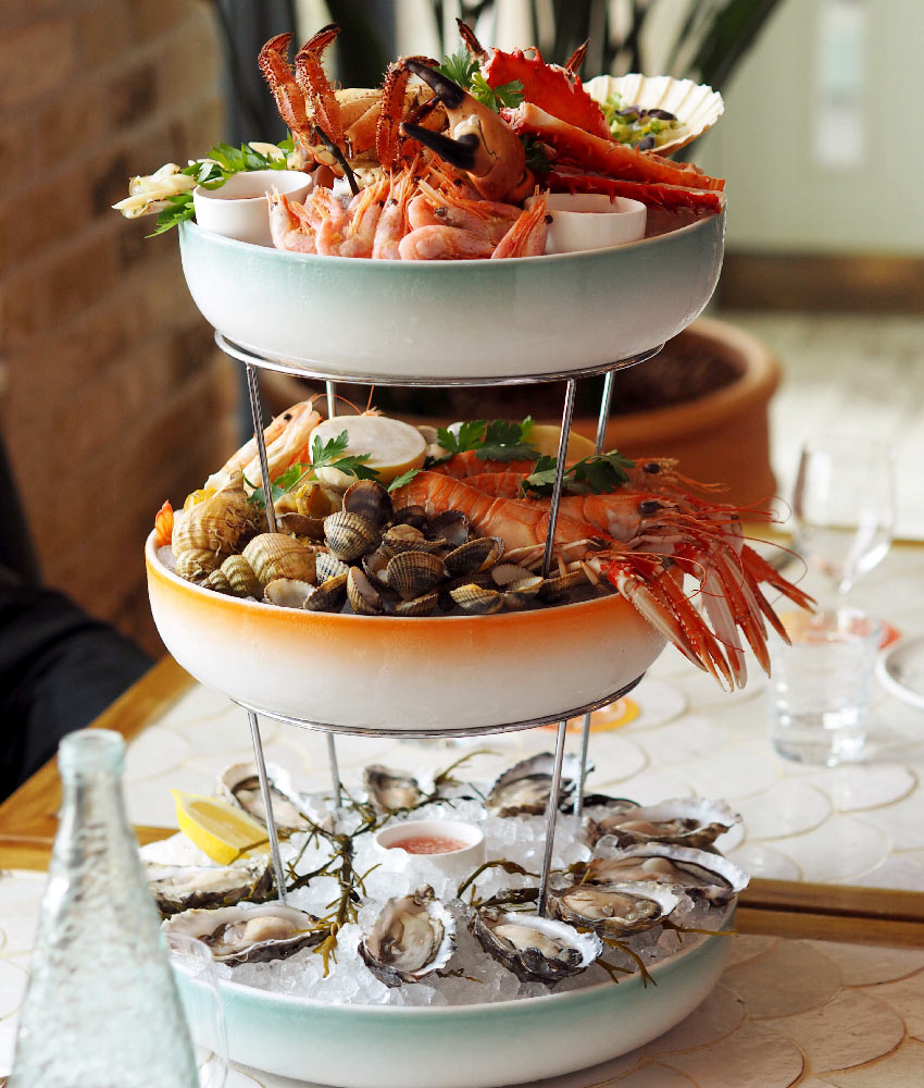 Seafood tower at Seabird